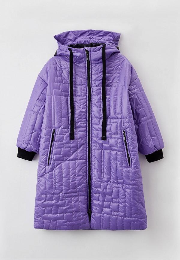 куртка gulliver для девочки, фиолетовая