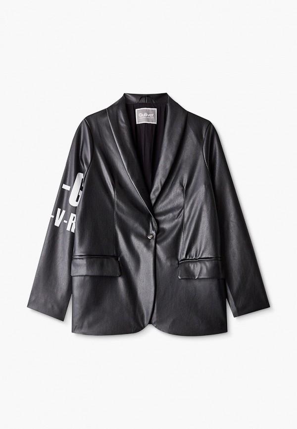 пиджак gulliver для девочки, черный