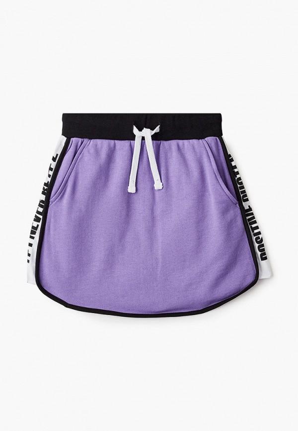 юбка gulliver для девочки, фиолетовая