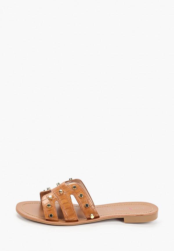 женское сабо guapissima, коричневое