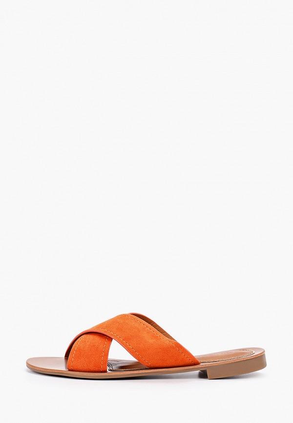 женское сабо guapissima, оранжевое