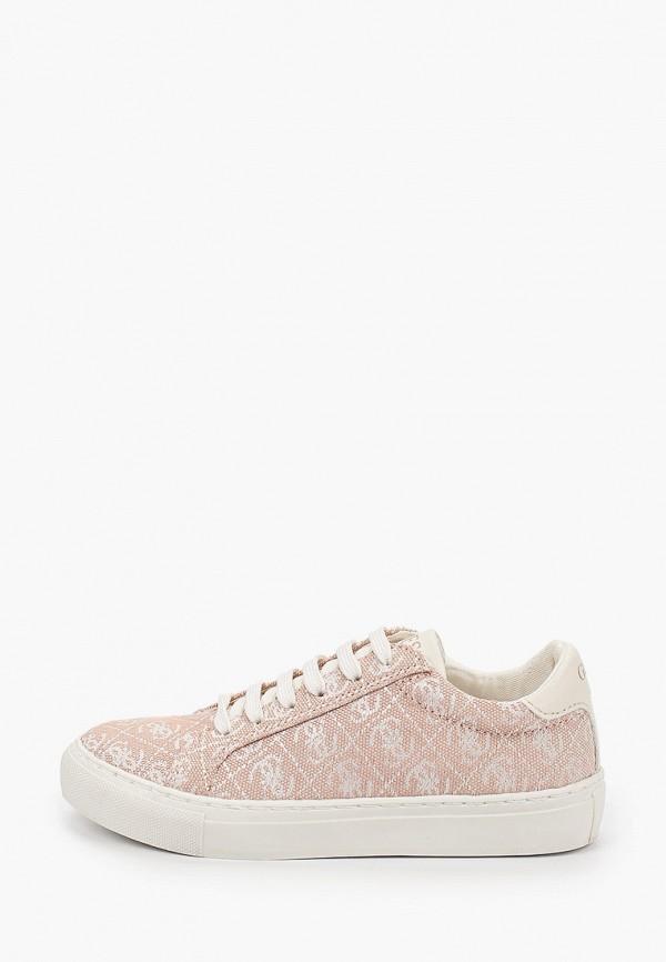 кеды guess для девочки, розовые