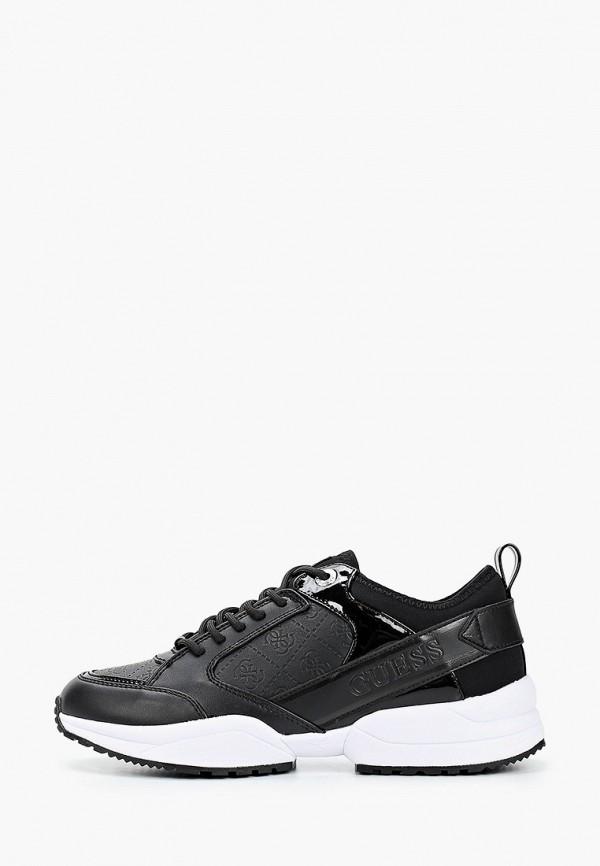женские низкие кроссовки guess, черные
