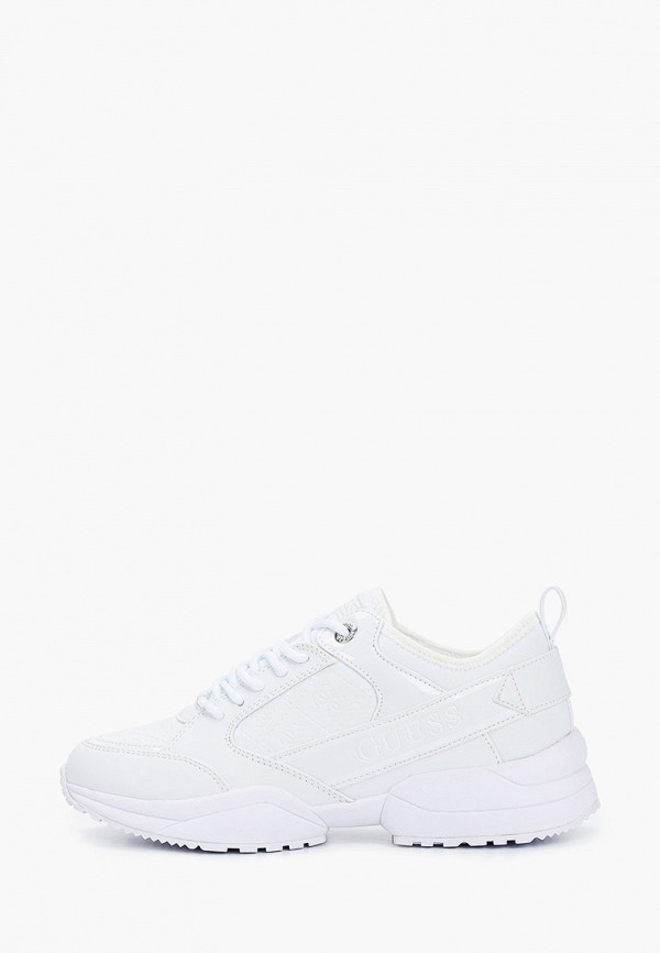женские низкие кроссовки guess, белые