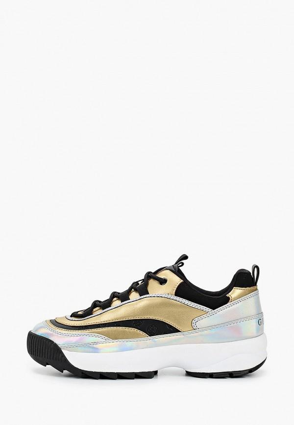 женские низкие кроссовки guess, золотые