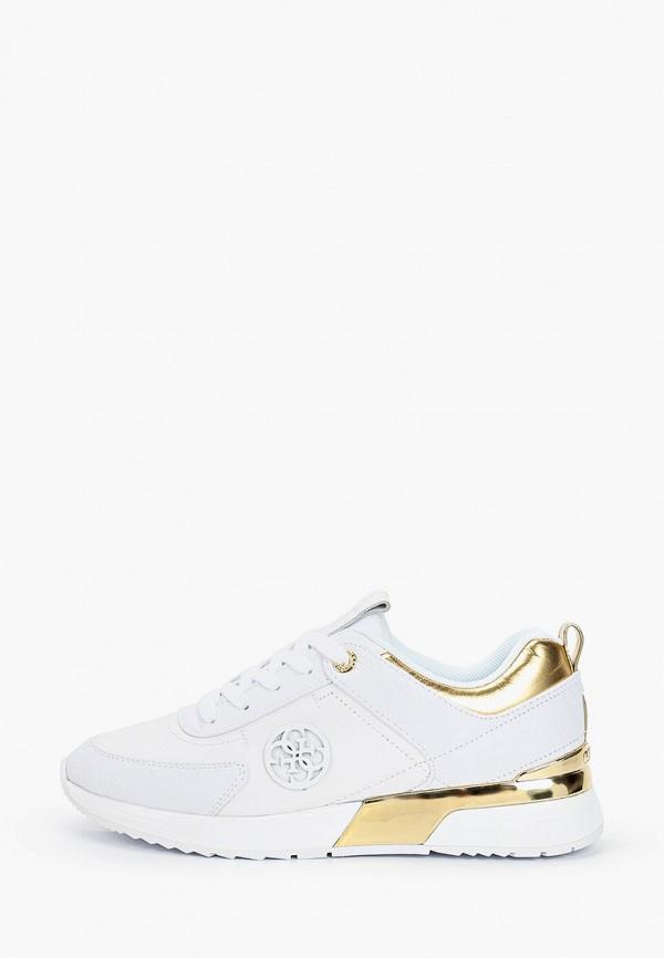 женские кроссовки guess, белые