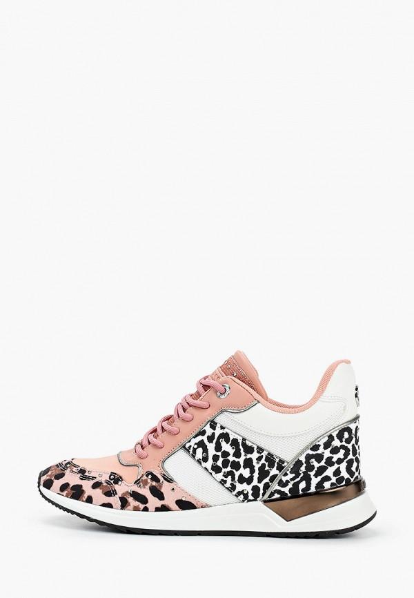 женские высокие кроссовки guess, разноцветные