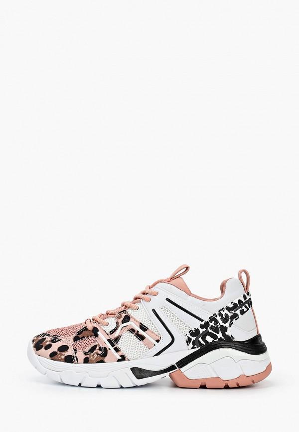 женские низкие кроссовки guess, розовые