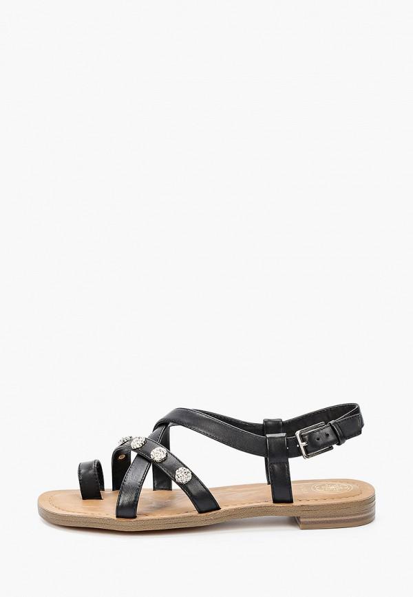 женские сандалии guess, черные
