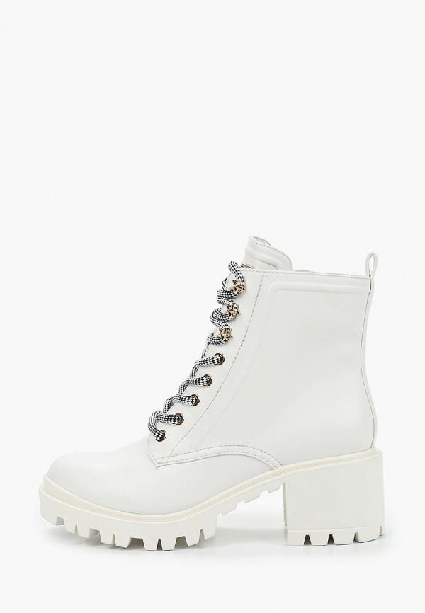 женские высокие ботинки guess, белые
