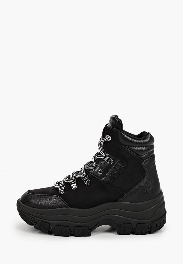 женские ботинки guess, черные