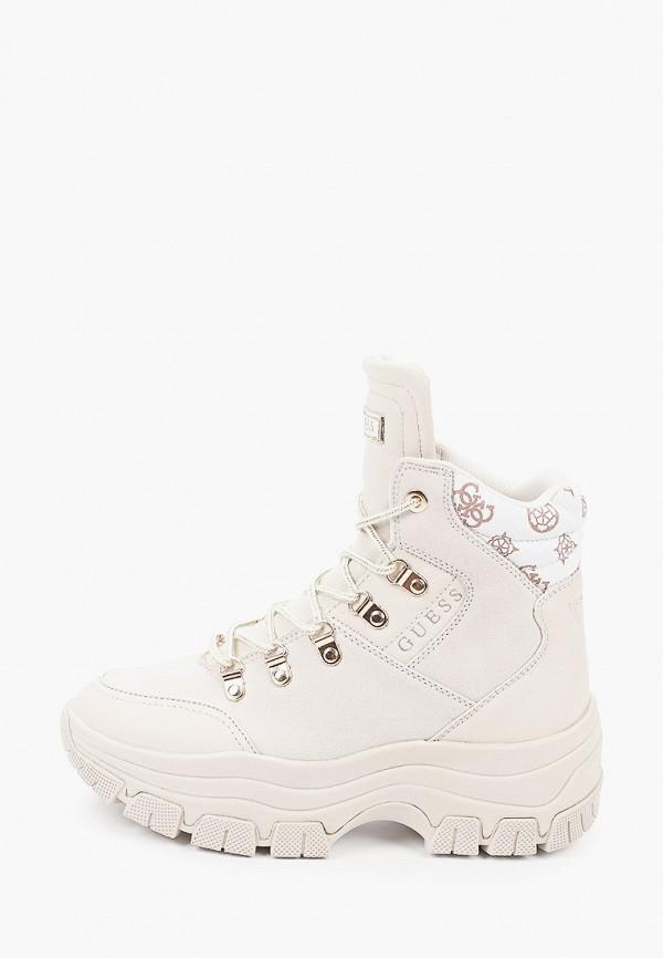 женские ботинки guess, бежевые
