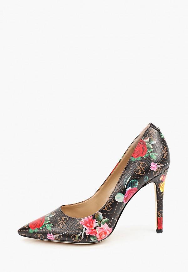 женские туфли-лодочки guess, разноцветные
