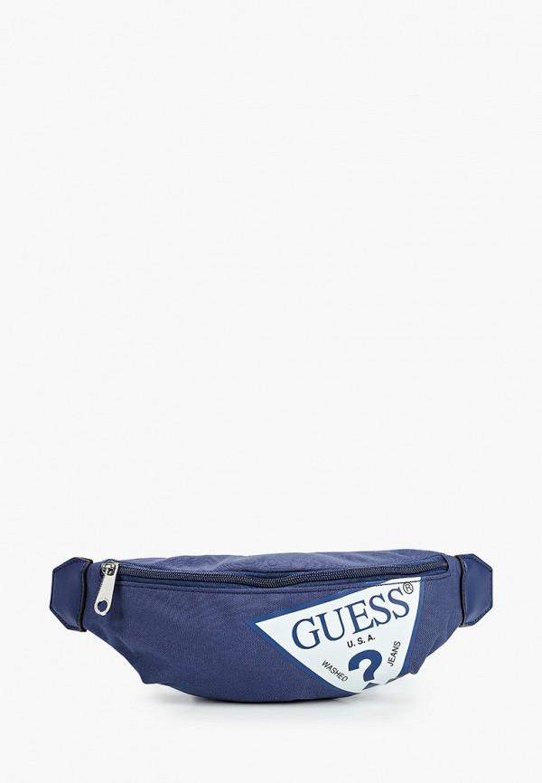 поясные сумка guess для мальчика, синяя
