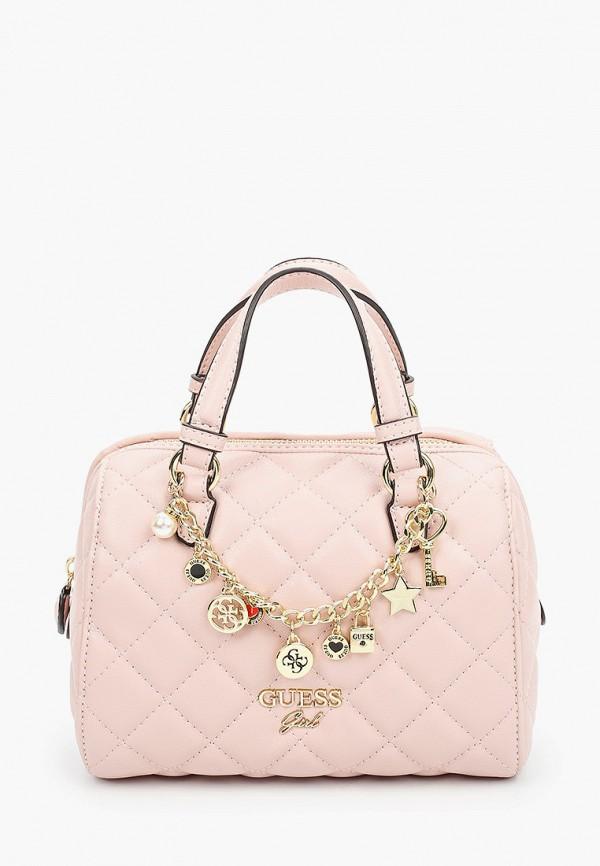 сумка guess для девочки, розовая