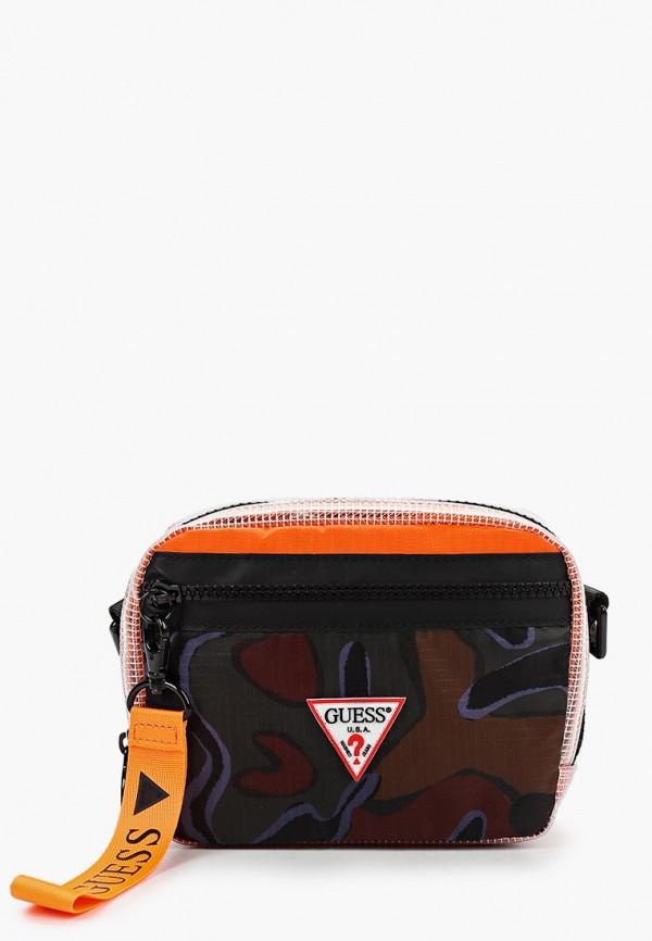 мужская сумка через плечо guess, разноцветная