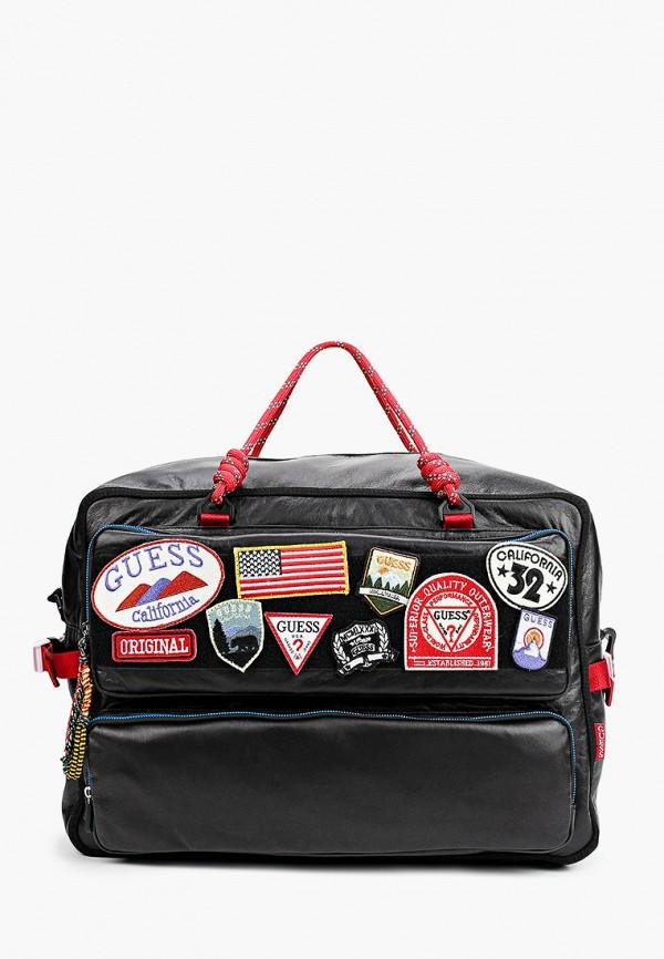 мужская дорожные сумка guess, черная