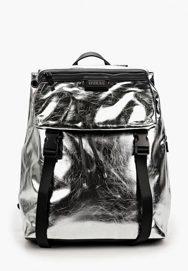 мужской рюкзак guess, серебряный