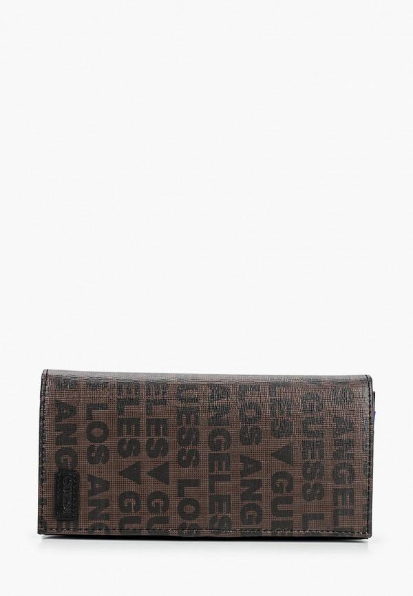 мужской кошелёк guess, коричневый