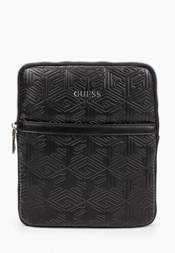 мужская сумка guess, черная
