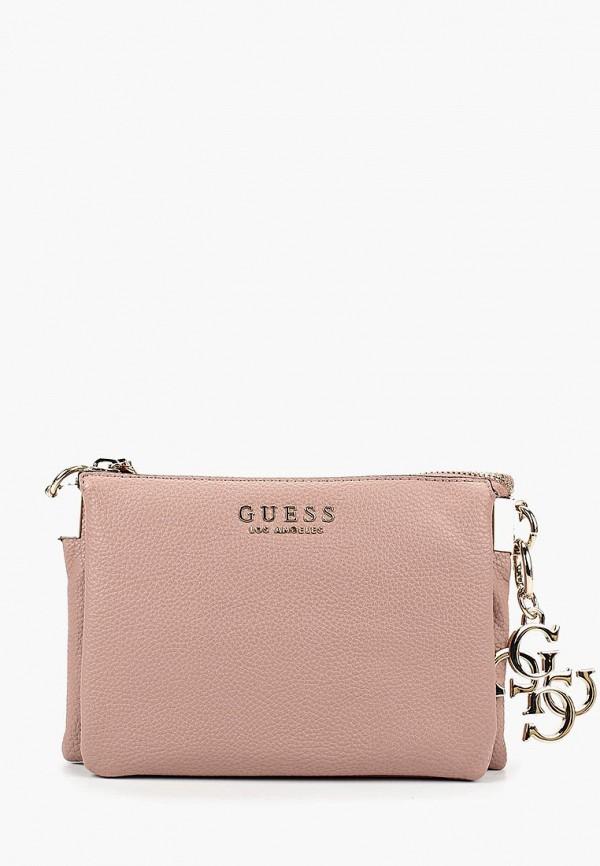 Купить Сумка Guess, 48.3, GU460BWCFNM0, розовый, Осень-зима 2018/2019