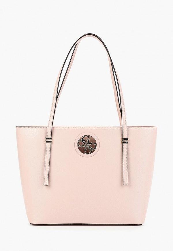 Фото - Женские сумки и аксессуары Guess розового цвета