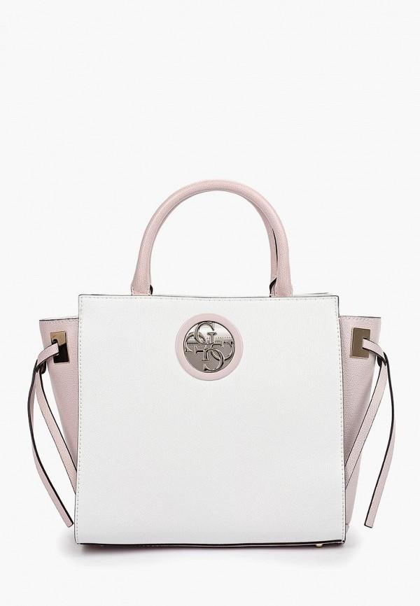 Фото - Женские сумки и аксессуары Guess белого цвета