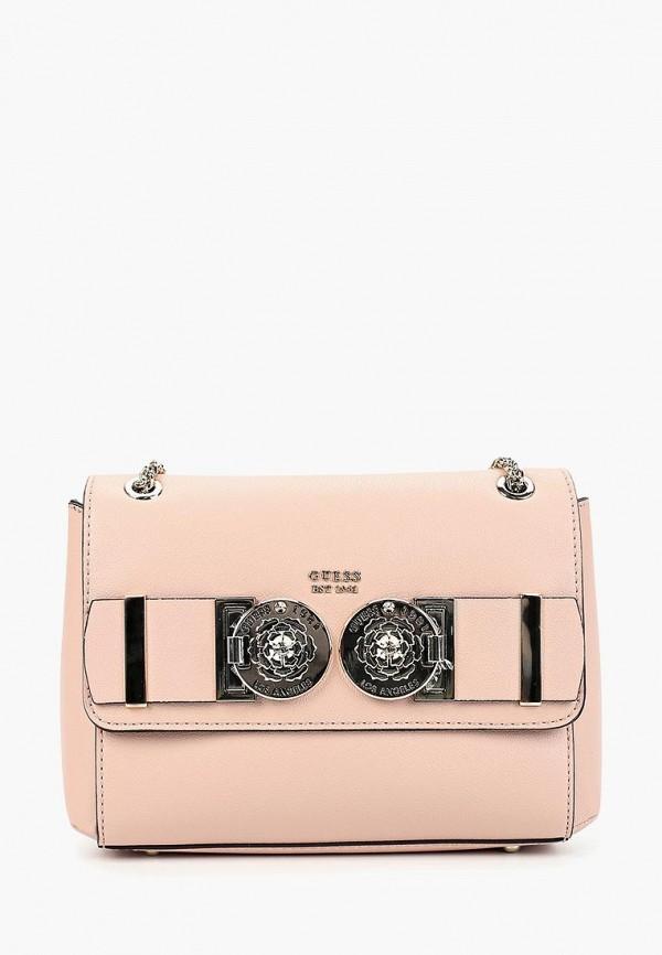 Фото - Женскую сумку Guess розового цвета