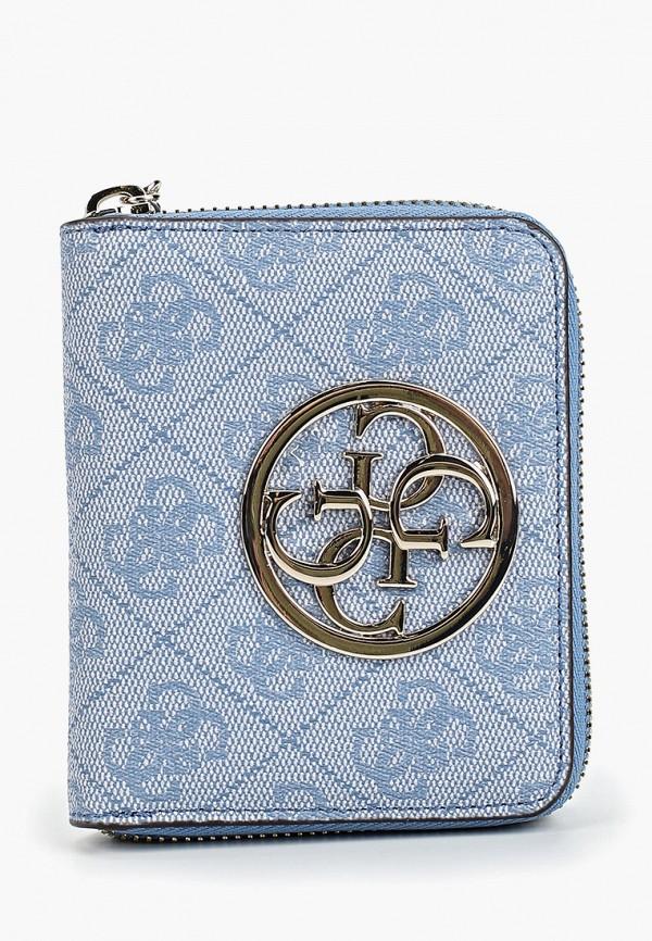 женский кошелёк guess, голубой