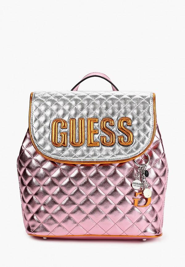 женский рюкзак guess, розовый