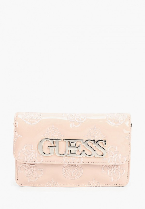 женская сумка guess, розовая