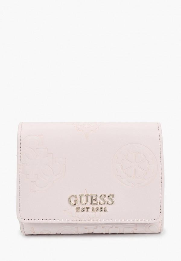 женский кошелёк guess, бежевый
