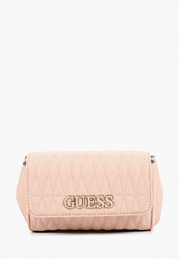 женская поясные сумка guess, розовая