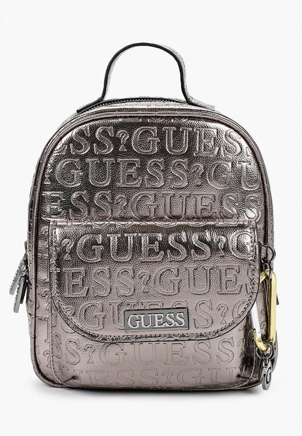женский рюкзак guess, серебряный