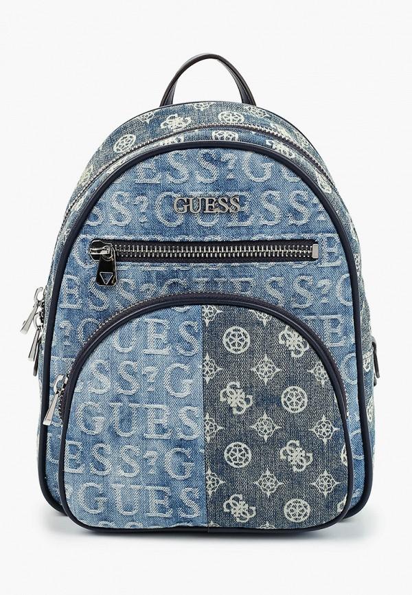 женский рюкзак guess, синий