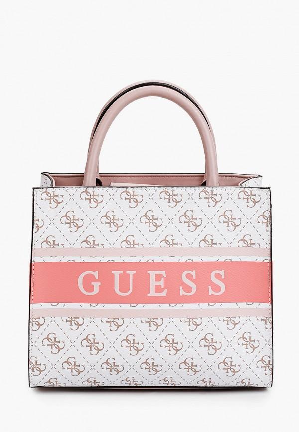 женская сумка guess, белая