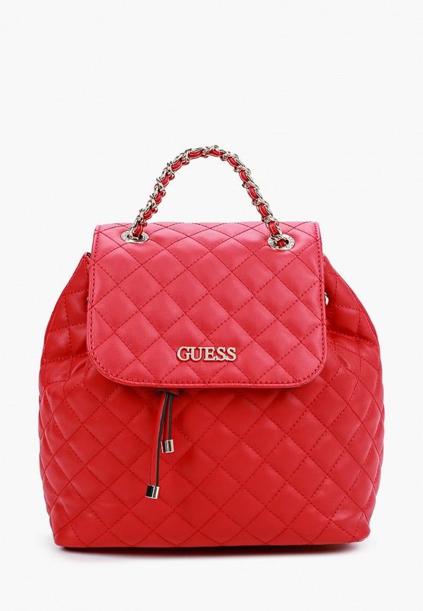 женский рюкзак guess, красный