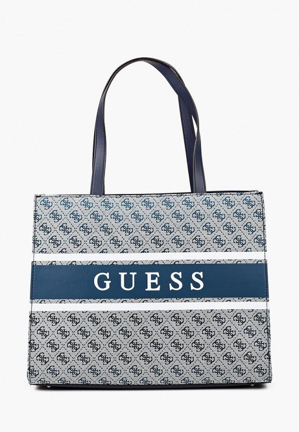 женская сумка guess, голубая