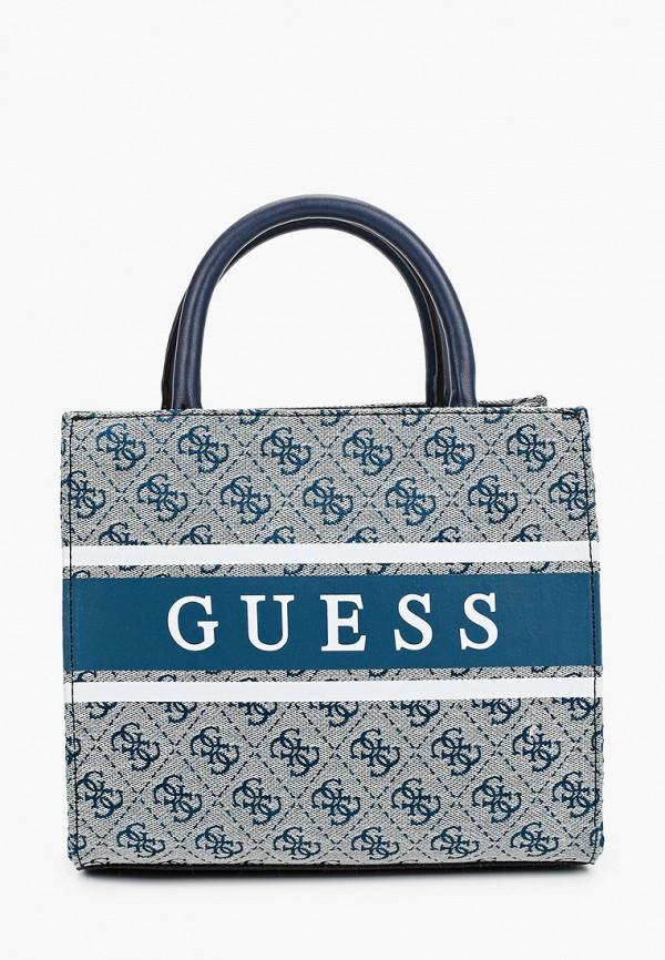женская сумка guess, синяя