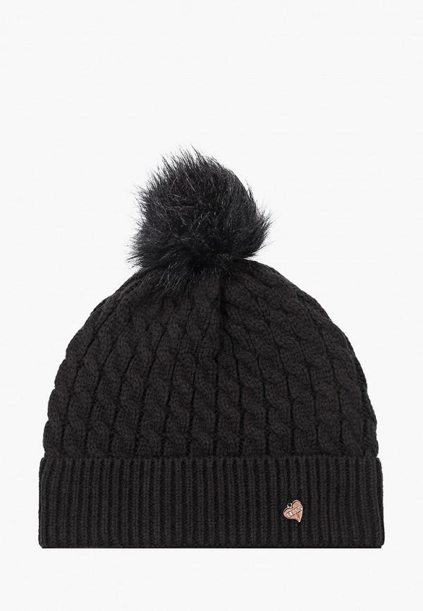 женская шапка guess, черная