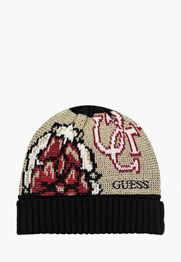 женская шапка guess, золотая