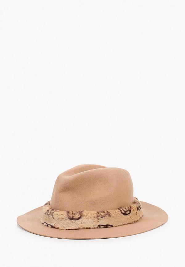 женская шляпа guess, бежевая