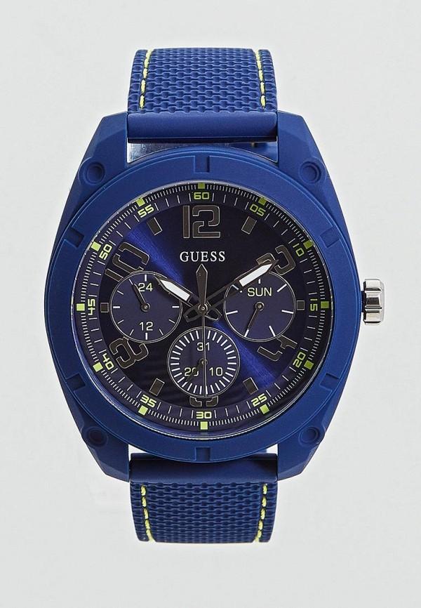 мужские часы guess, синие