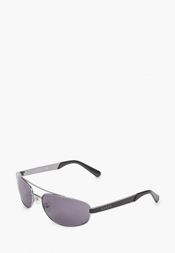 мужские солнцезащитные очки guess, серебряные