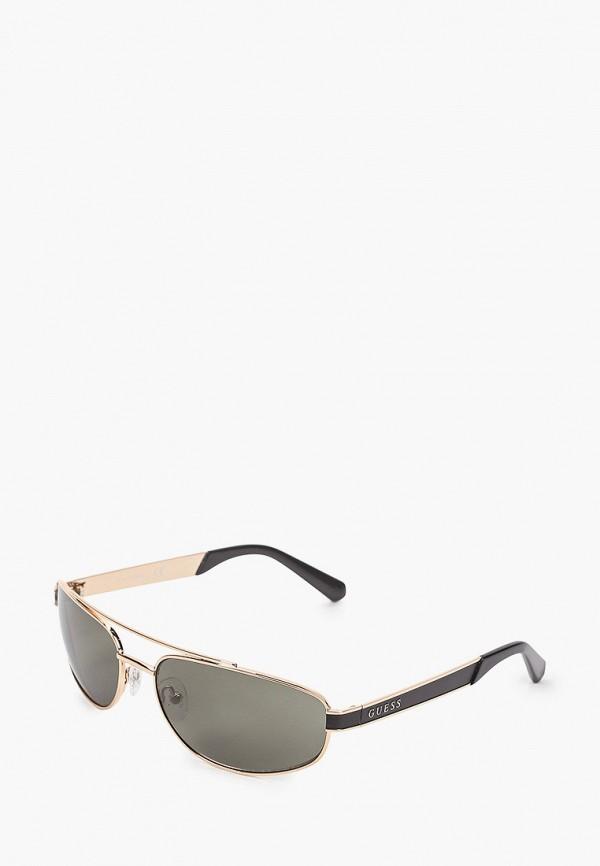 мужские солнцезащитные очки guess, золотые