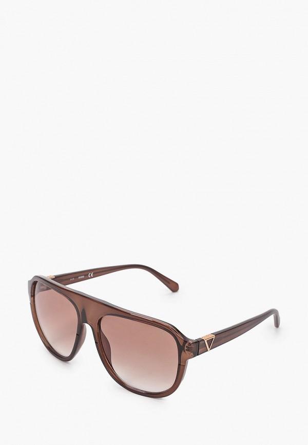 мужские солнцезащитные очки guess, коричневые