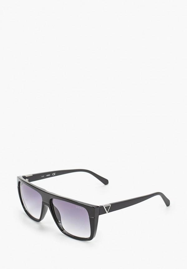 женские квадратные солнцезащитные очки guess, черные