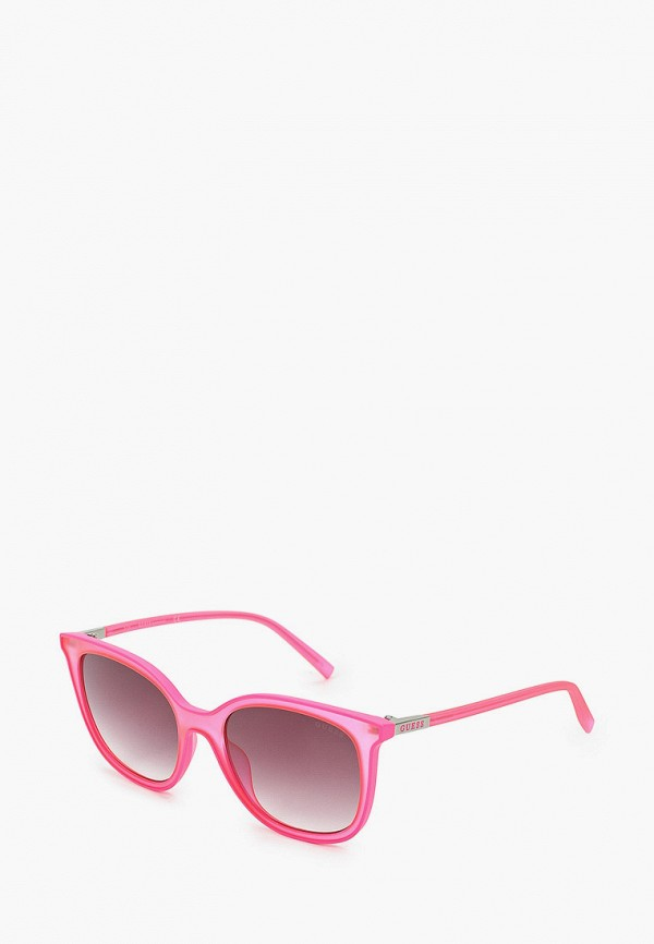 женские квадратные солнцезащитные очки guess, розовые
