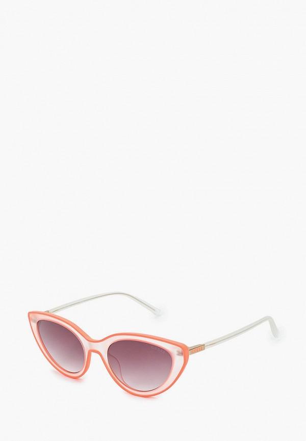 женские квадратные солнцезащитные очки guess, оранжевые