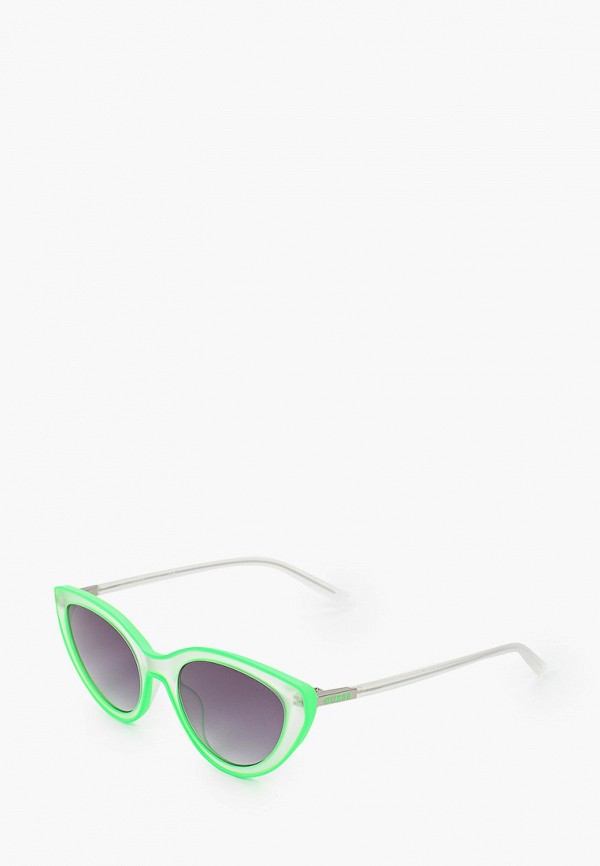 женские солнцезащитные очки кошачьи глаза guess, зеленые